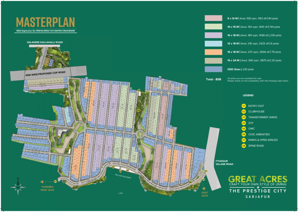Prestige Great Acres masterplan1